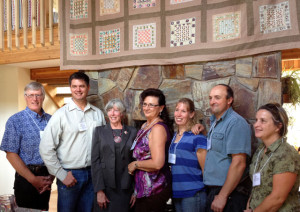 Lieutenant-Governor Judith Guichon (center) with some of our amazing local ranchers.
