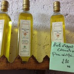 Organic Argan oil at a women's co-op just below the famous Essouiera ramparts.