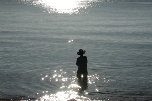Woman's silhouette, Red Sea